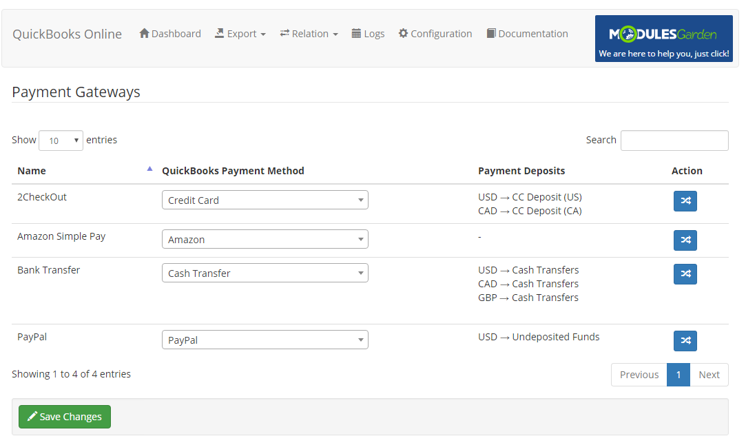 QuickBooks Online For WHMCS: Module Screenshot 15