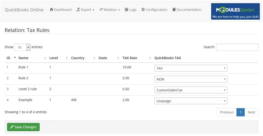 QuickBooks Online For WHMCS: Module Screenshot 15