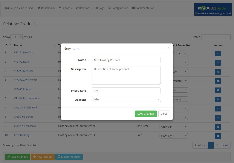 QuickBooks Online For WHMCS: Module Screenshot 8