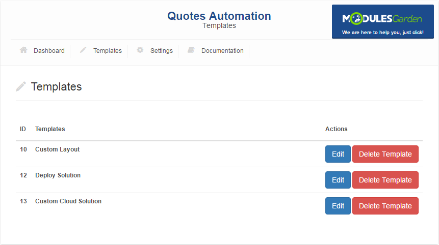 Quotes Automation For WHMCS: Screen 6
