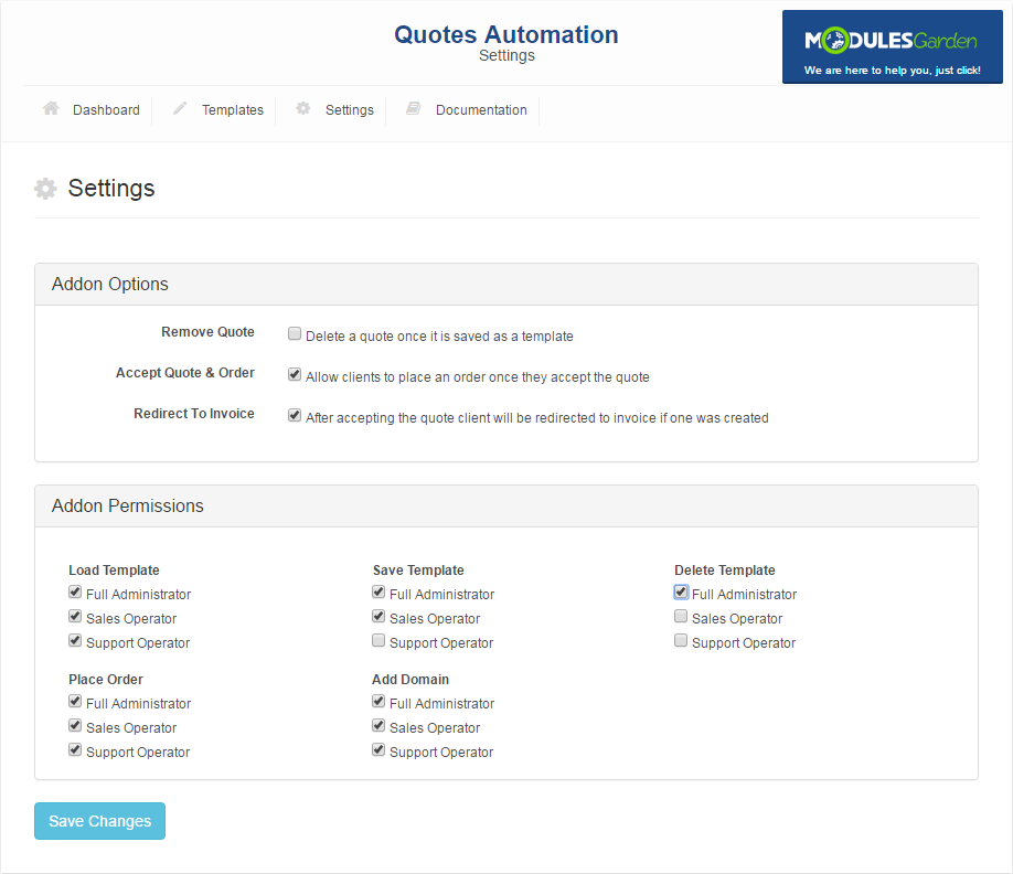 Quotes Automation For WHMCS: Screen 7