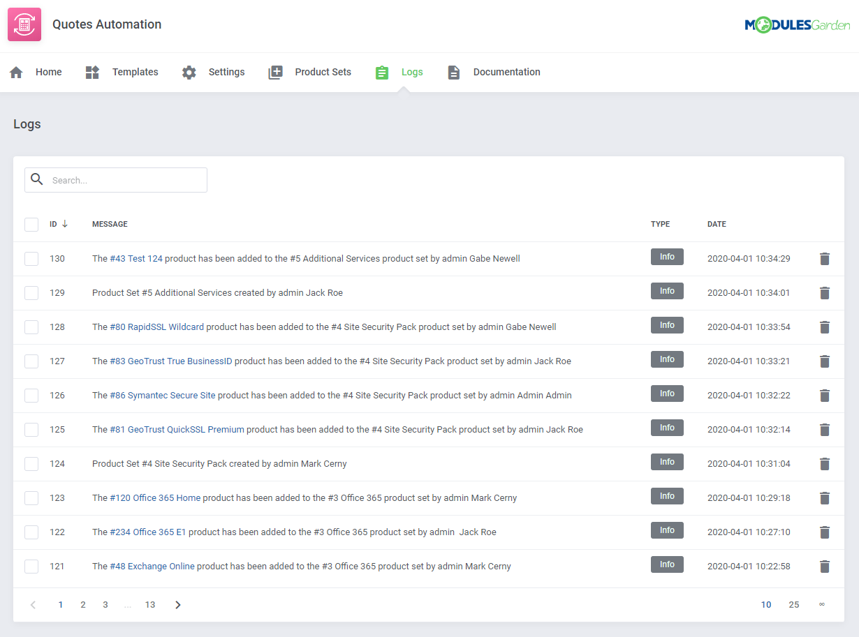 Quotes Automation For WHMCS: Module Screenshot 13