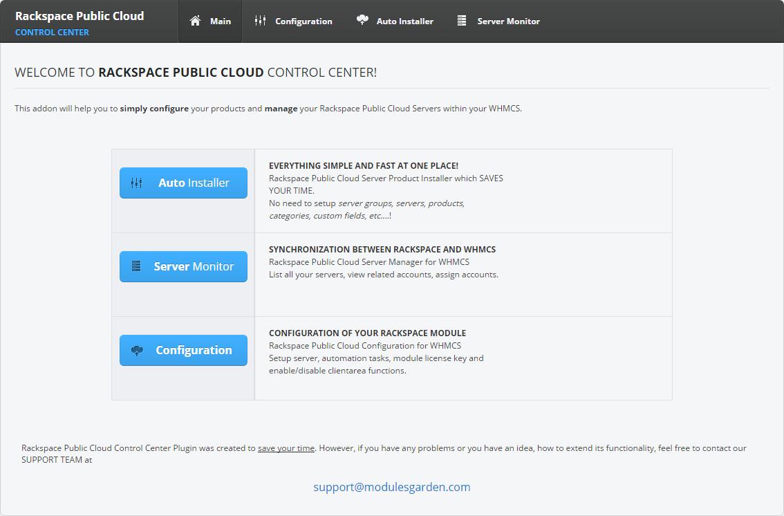 Rackspace Public Cloud For WHMCS: Screen 5
