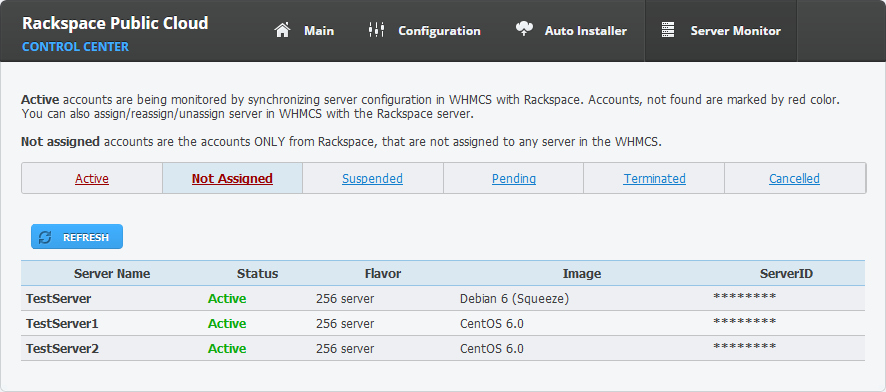 Rackspace Public Cloud For WHMCS: Screen 11