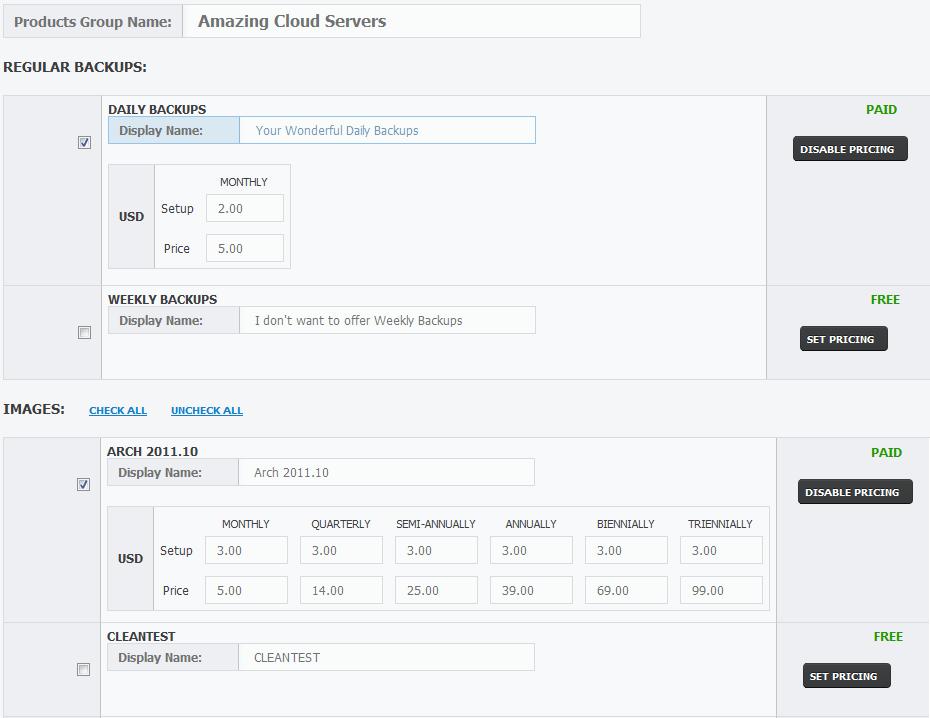 Rackspace Public Cloud For WHMCS: Screen 7