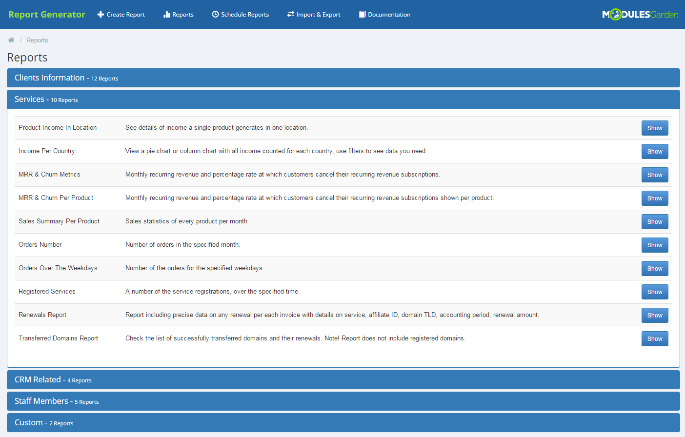 Report Generator For WHMCS: Screen 15