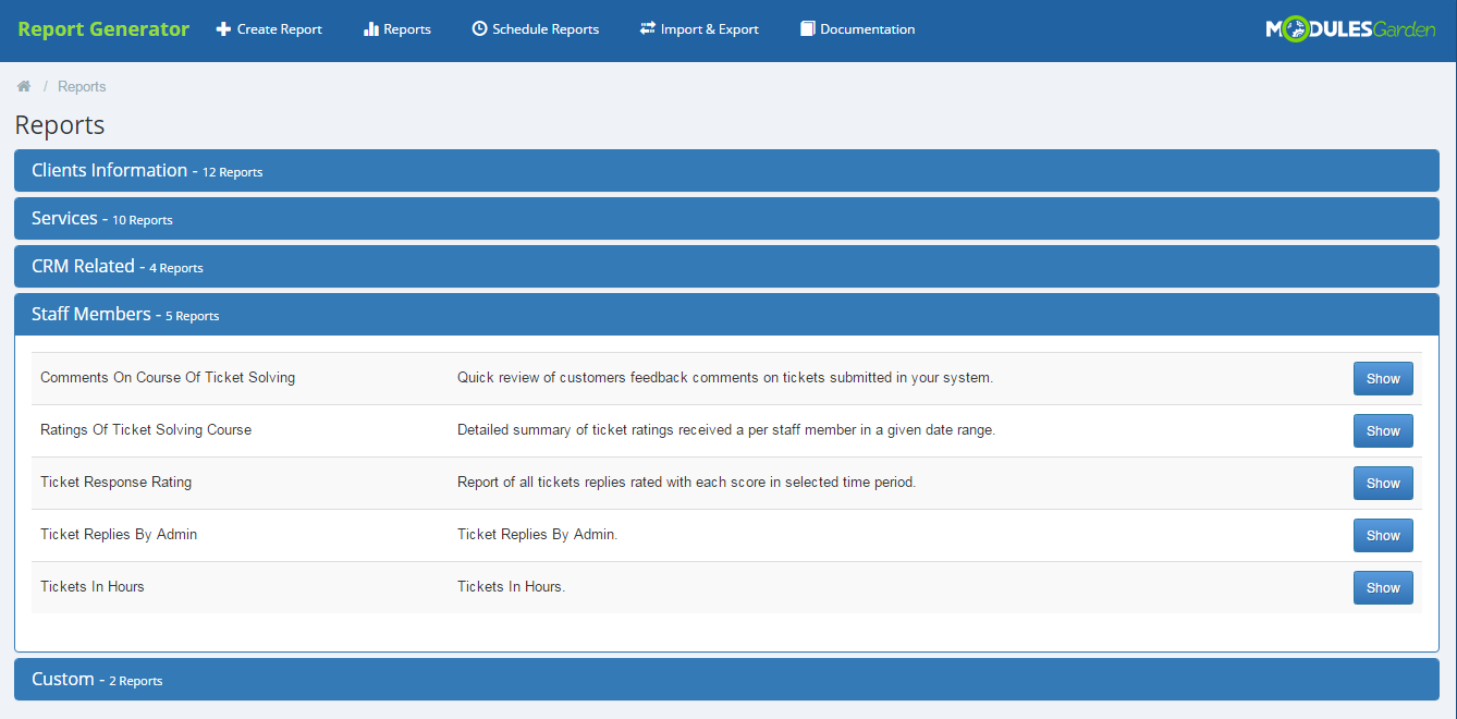 Report Generator For WHMCS: Screen 17