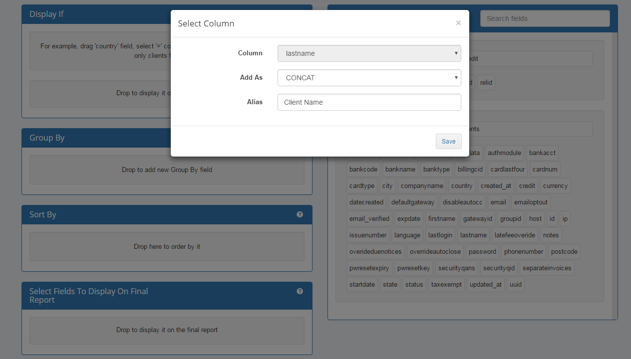 Report Generator For WHMCS: Screen 5