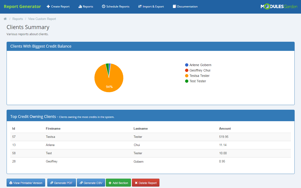 Report Generator For WHMCS: Screen 8