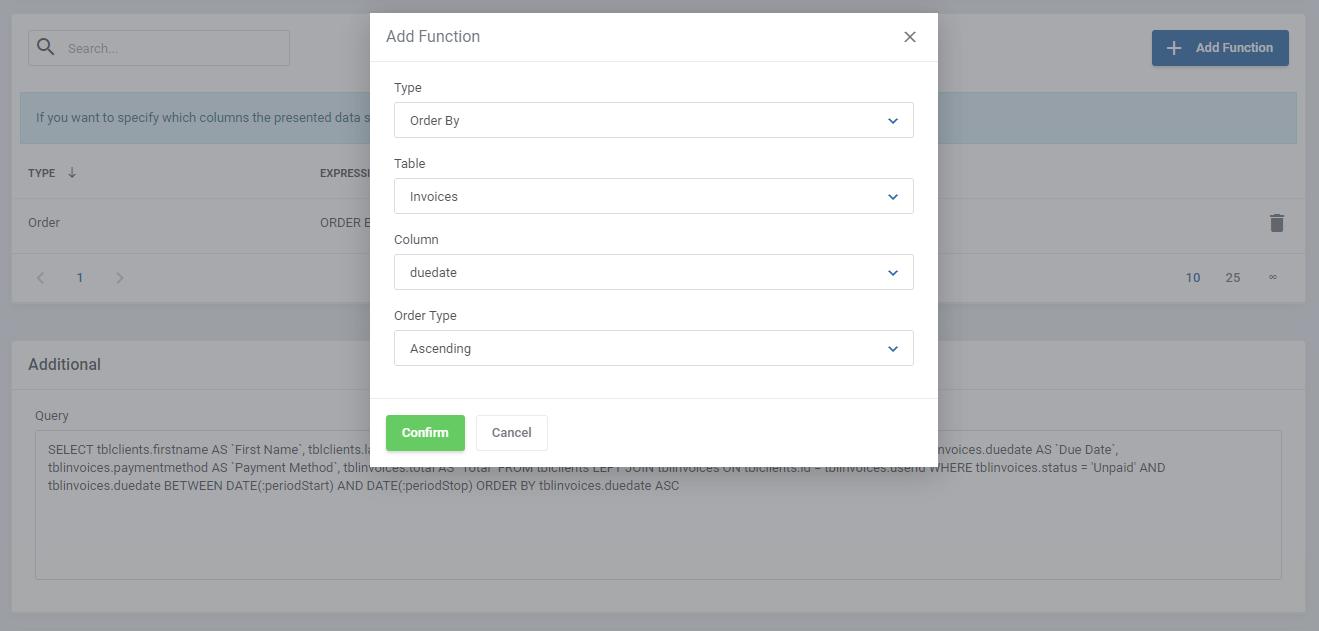 Report Generator For WHMCS: Module Screenshot 15