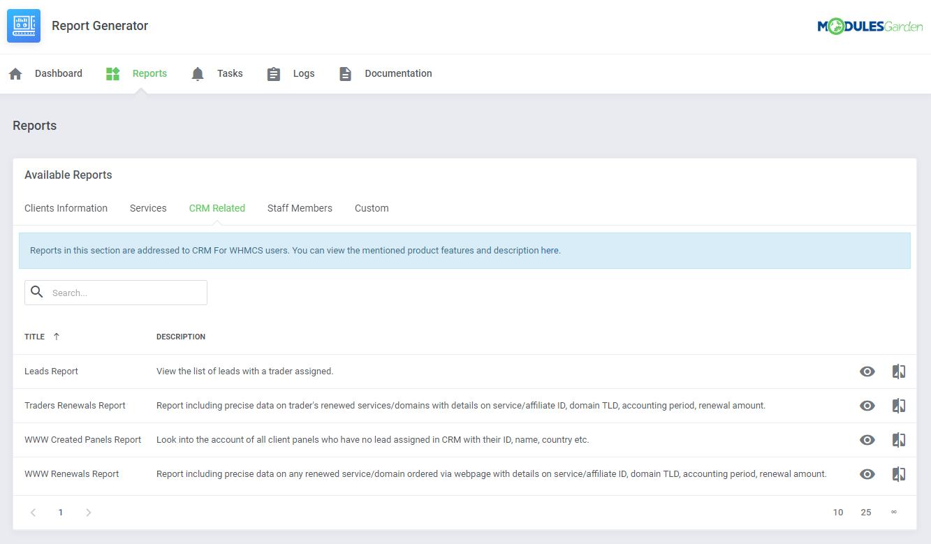 Report Generator For WHMCS: Module Screenshot 6