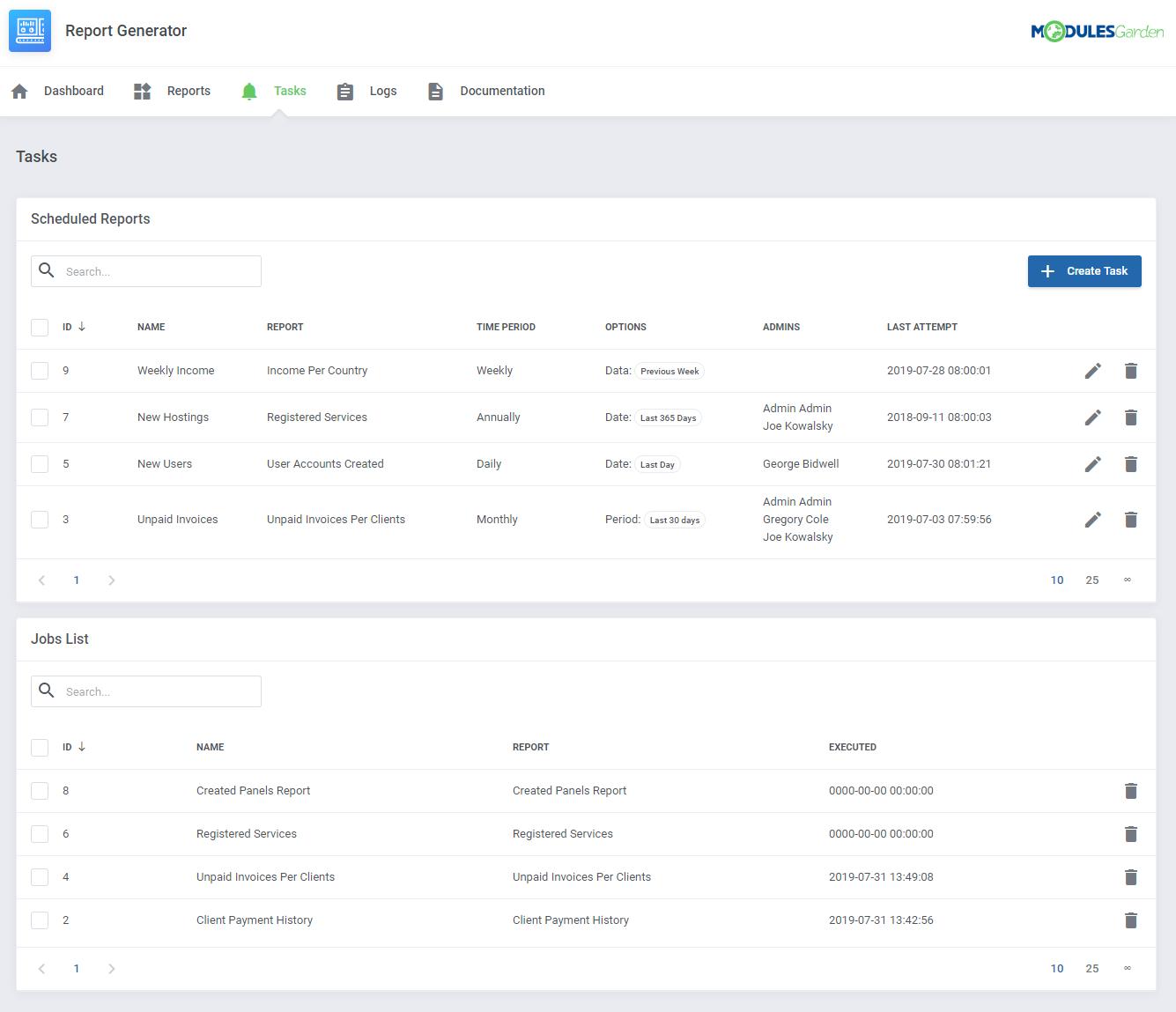 Report Generator For WHMCS: Module Screenshot 17