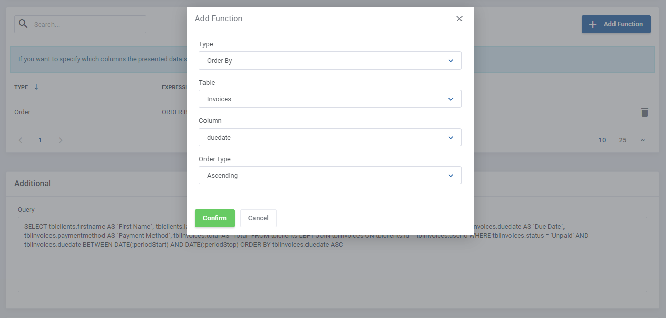 Report Generator For WHMCS: Module Screenshot 16
