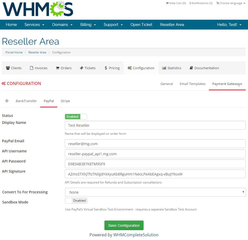 Resellers Center For WHMCS: Screen 29