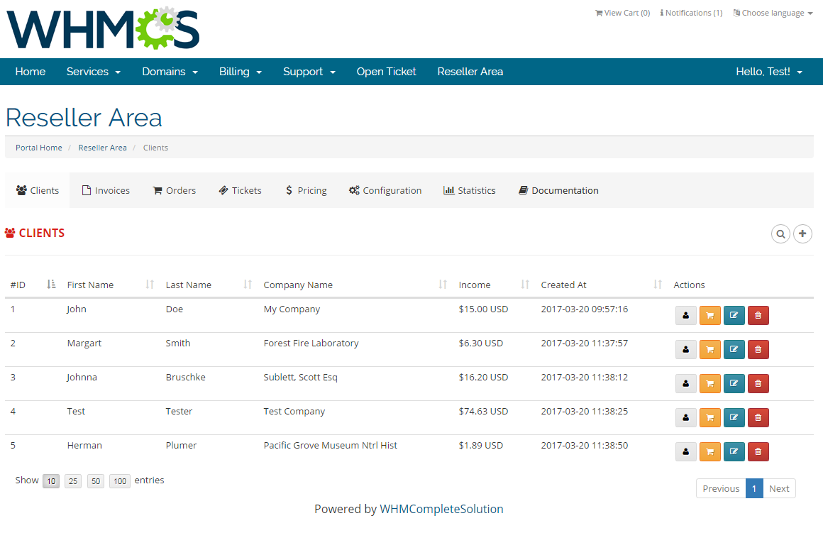 Resellers Center For WHMCS: Screen 13