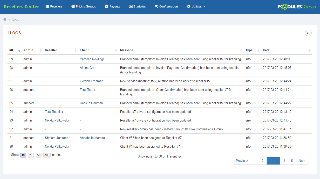 Resellers Center For WHMCS: Screen 10