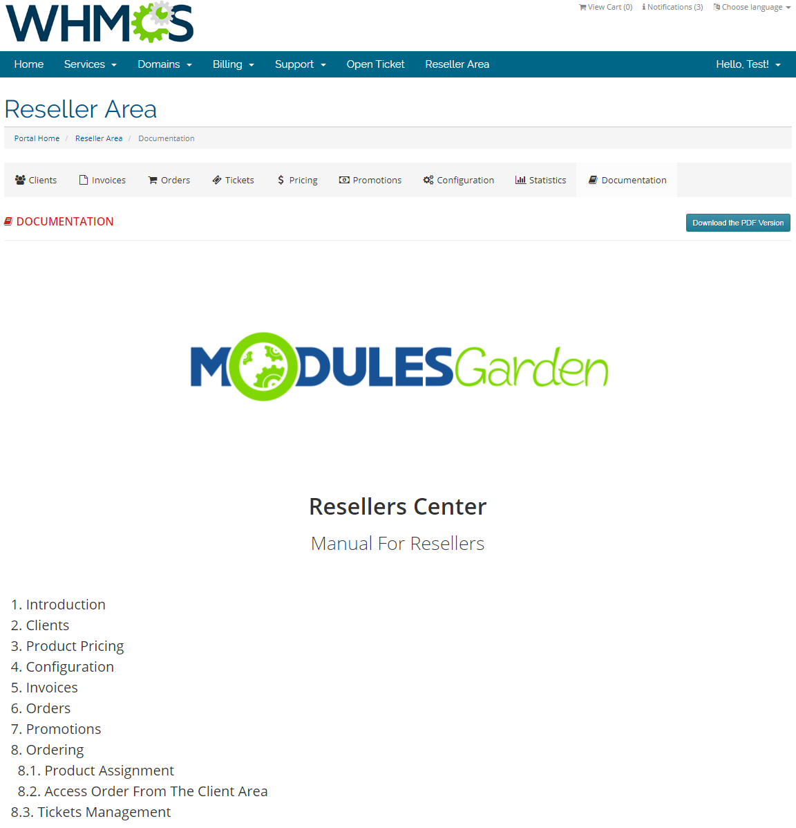 Resellers Center For WHMCS: Screen 34