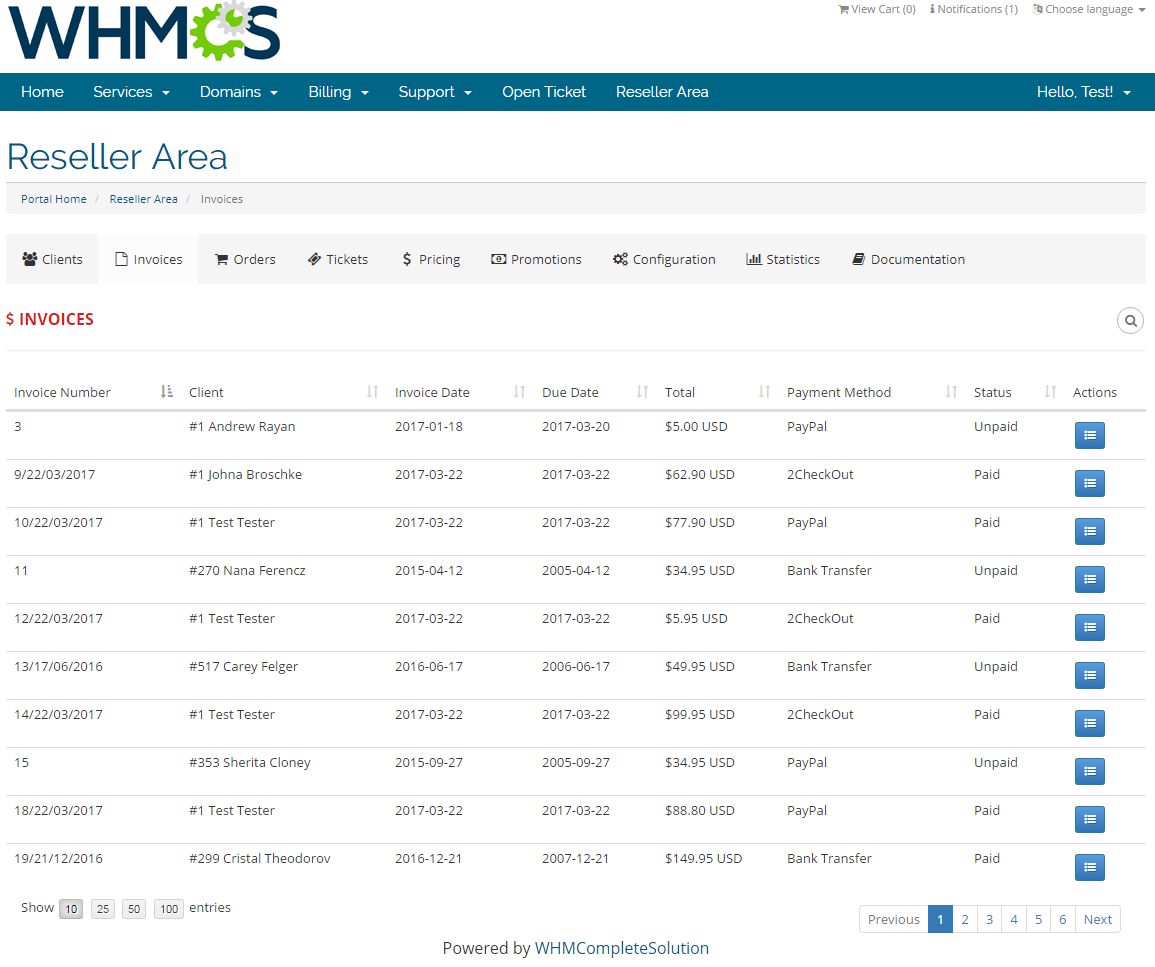Resellers Center For WHMCS: Screen 15