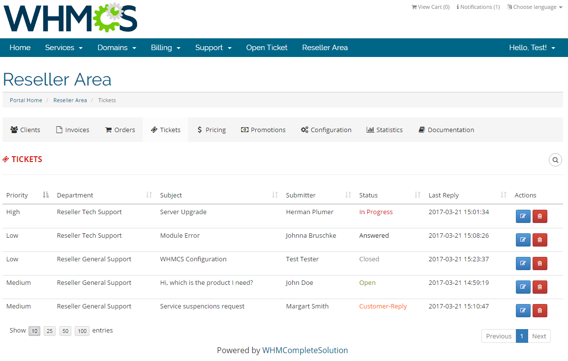 Resellers Center For WHMCS: Screen 20
