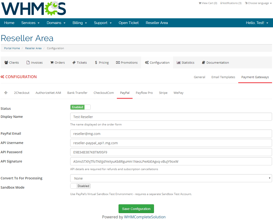Resellers Center For WHMCS: Screen 31