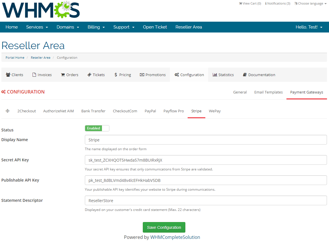 Resellers Center For WHMCS: Screen 32