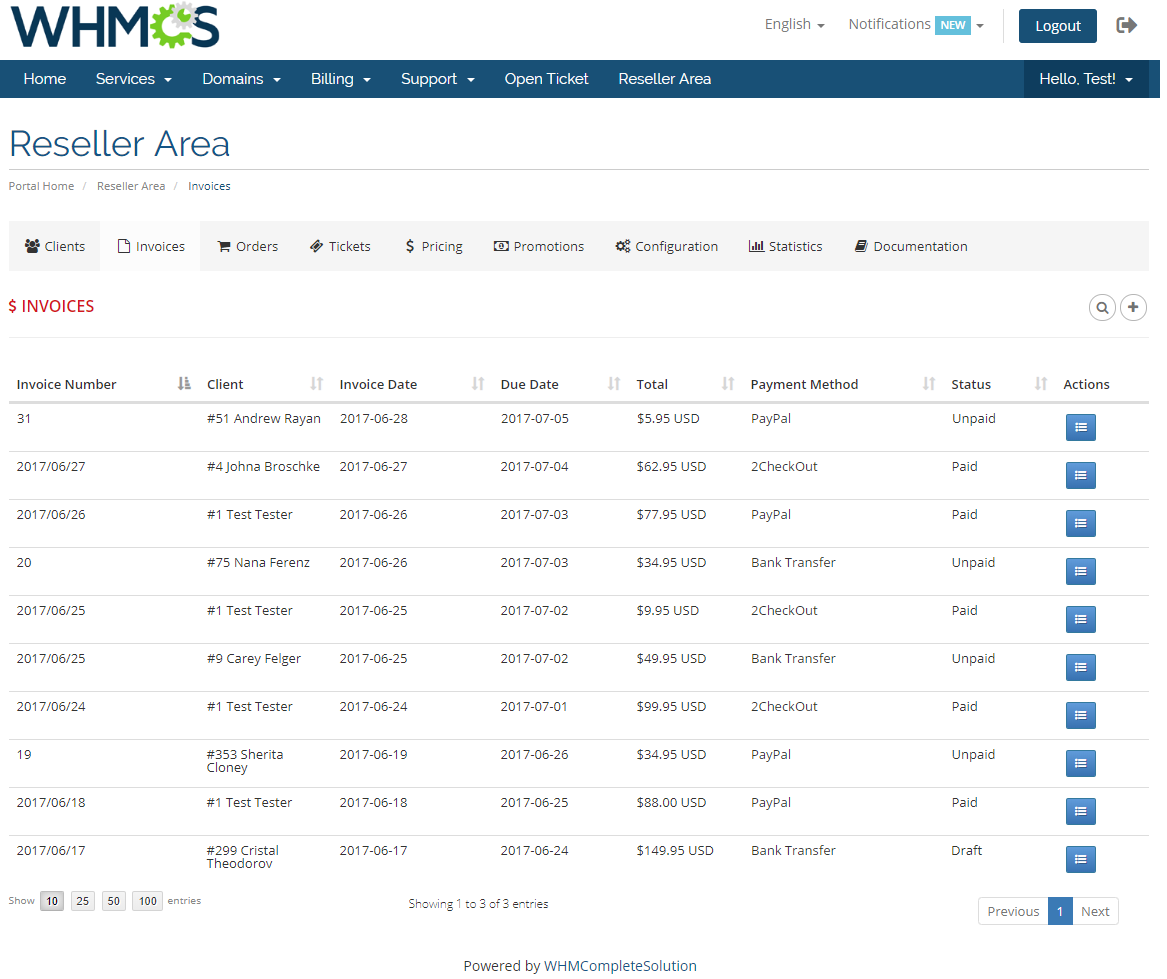 Resellers Center For WHMCS: Module Screenshot 16