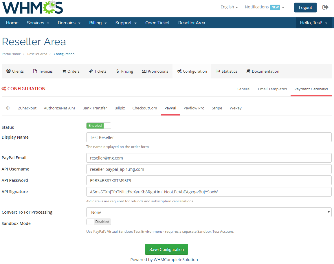 Resellers Center For WHMCS: Module Screenshot 33