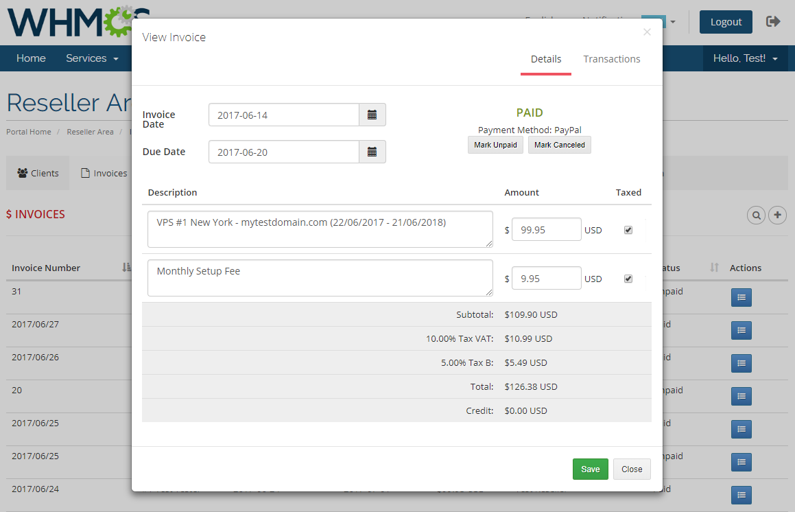 Resellers Center For WHMCS: Module Screenshot 18