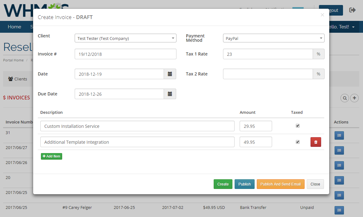 Resellers Center For WHMCS: Module Screenshot 20