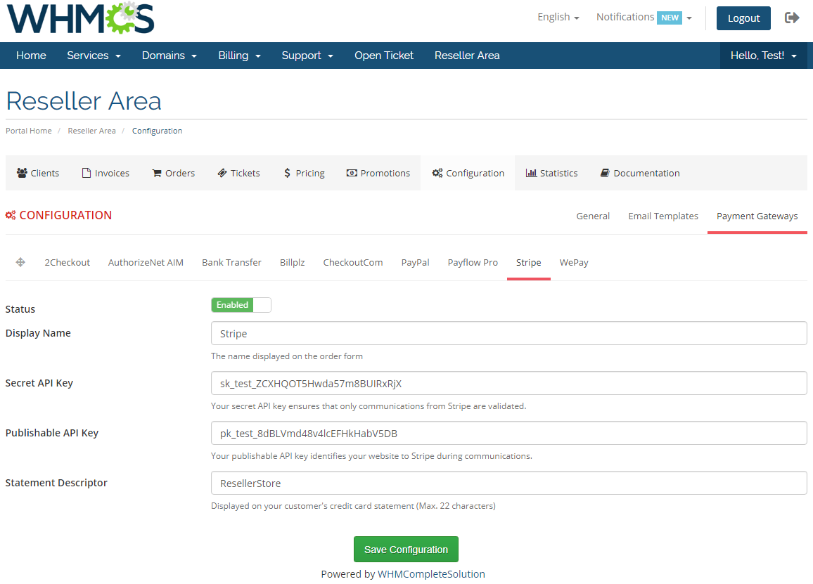 Resellers Center For WHMCS: Module Screenshot 36
