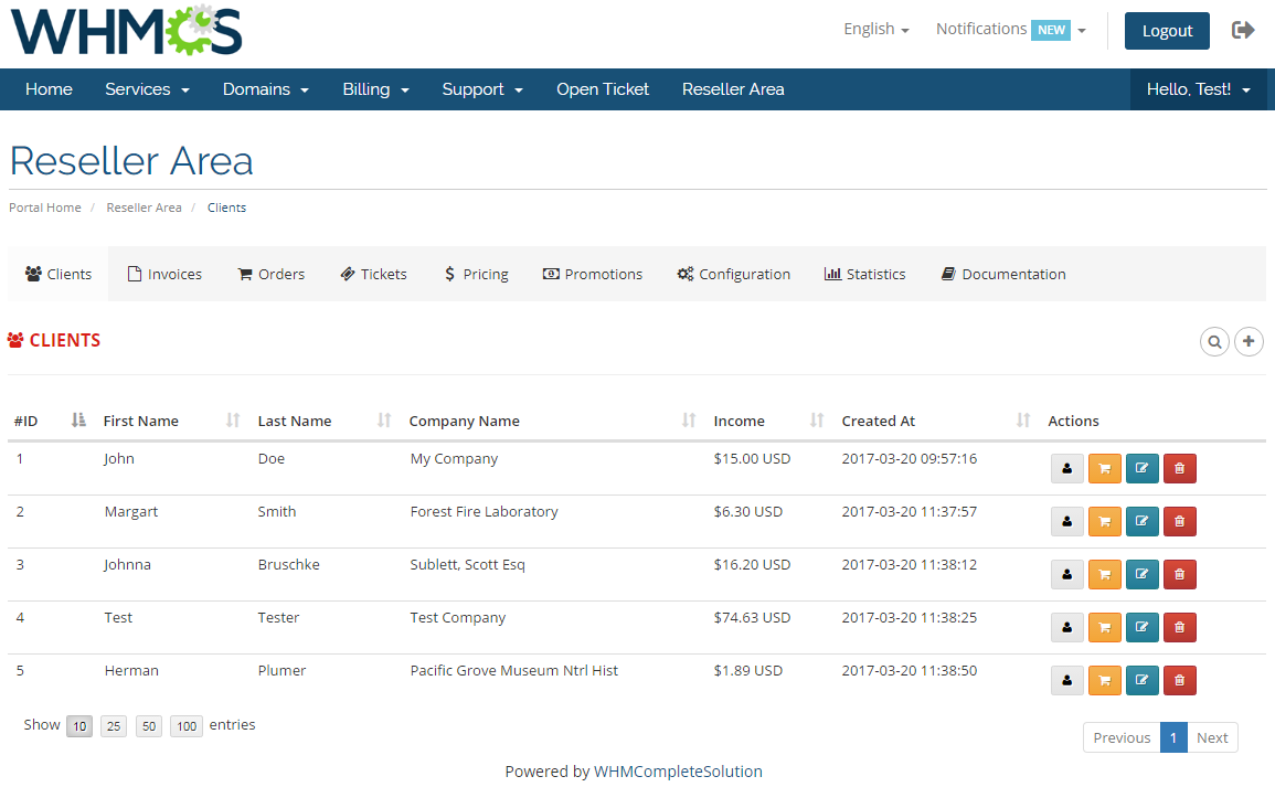 Resellers Center For WHMCS: Module Screenshot 15