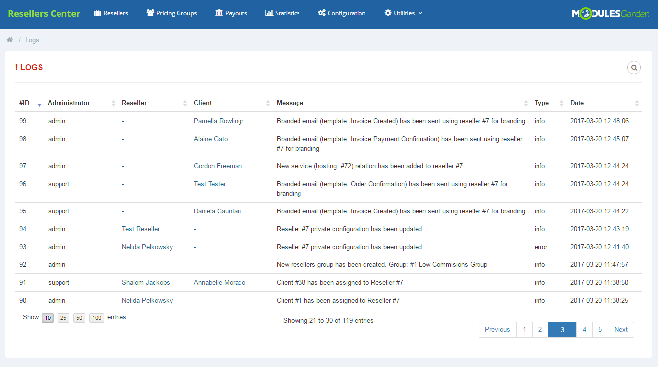 Resellers Center For WHMCS: Module Screenshot 11