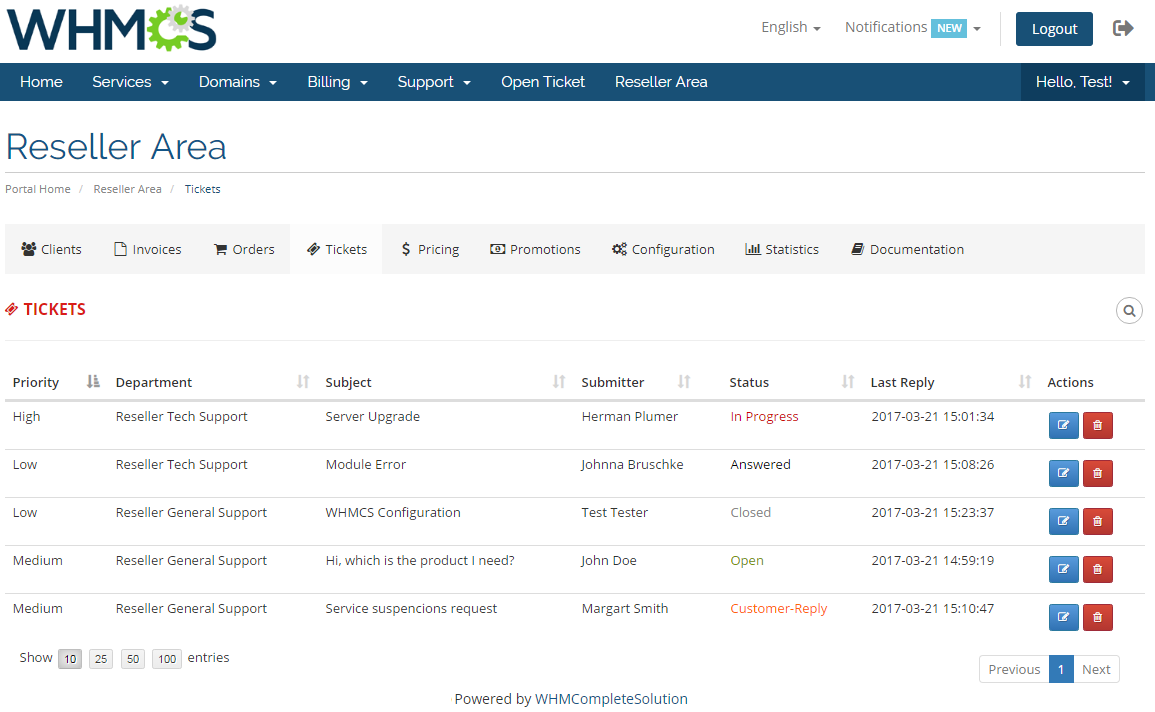 Resellers Center For WHMCS: Module Screenshot 24