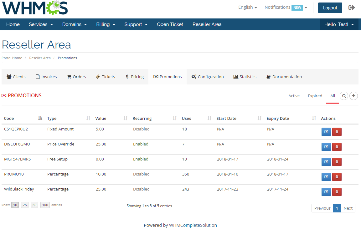 Resellers Center For WHMCS: Module Screenshot 29