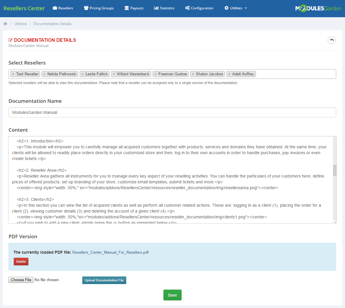 Resellers Center For WHMCS: Module Screenshot 12