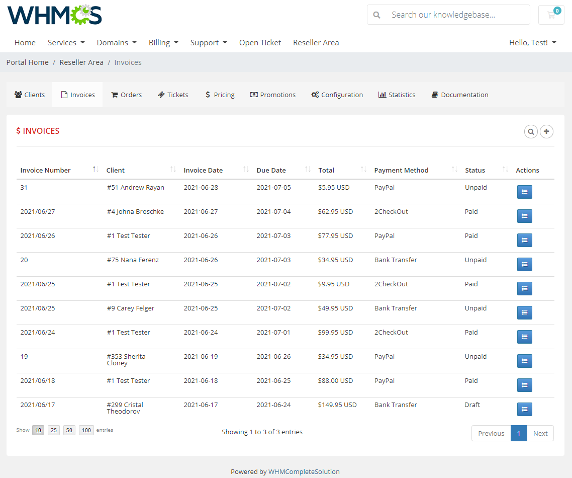 Resellers Center For WHMCS: Module Screenshot 17