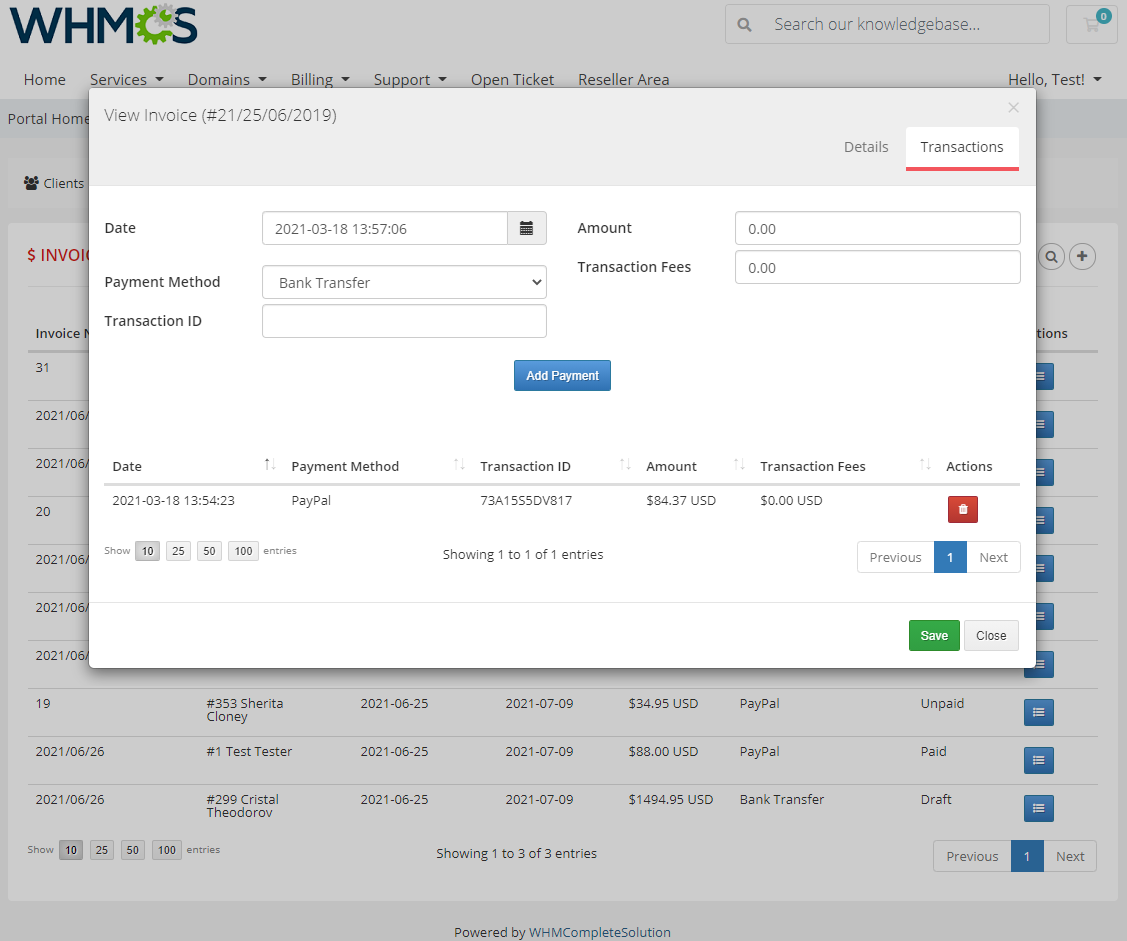 Resellers Center For WHMCS: Module Screenshot 19