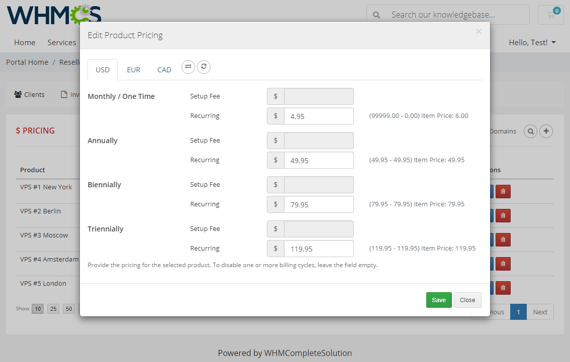 Resellers Center For WHMCS: Module Screenshot 27