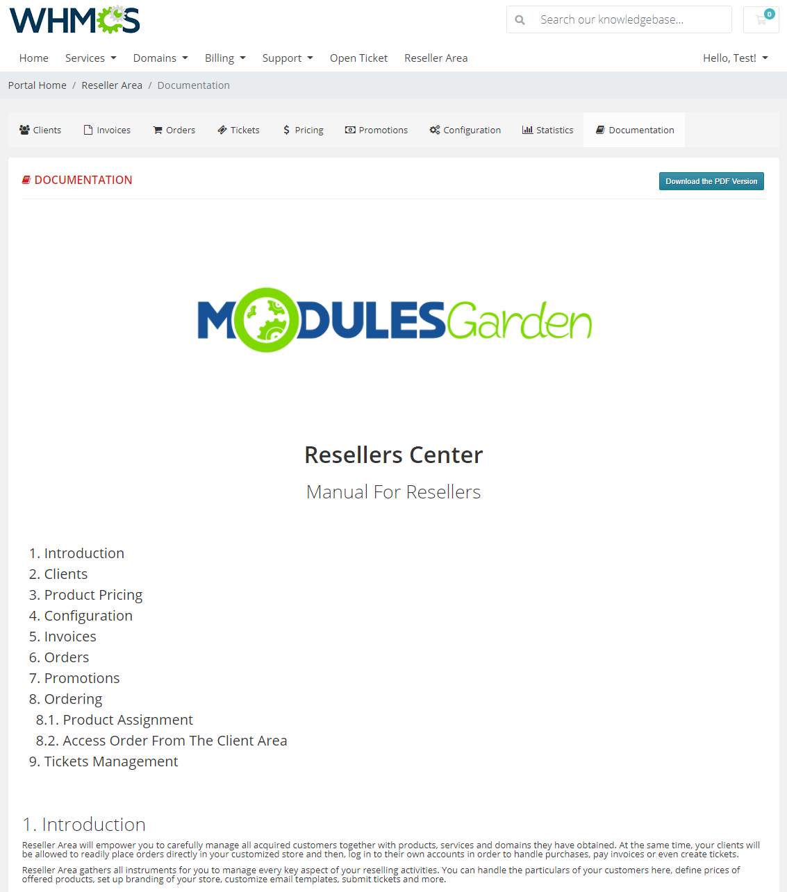 Resellers Center For WHMCS: Module Screenshot 38