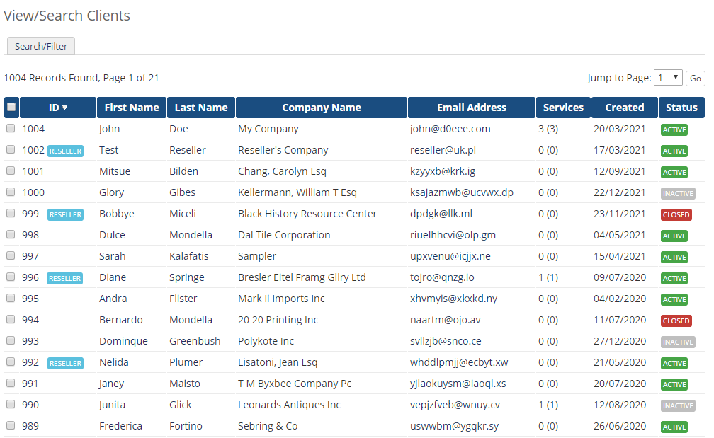 Resellers Center For WHMCS: Module Screenshot 13