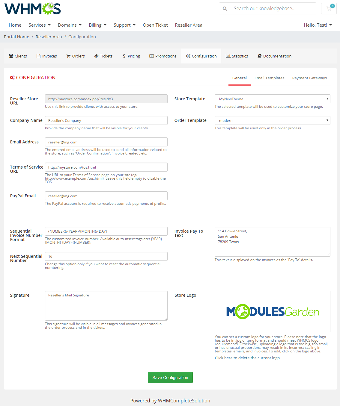Resellers Center For WHMCS: Module Screenshot 31