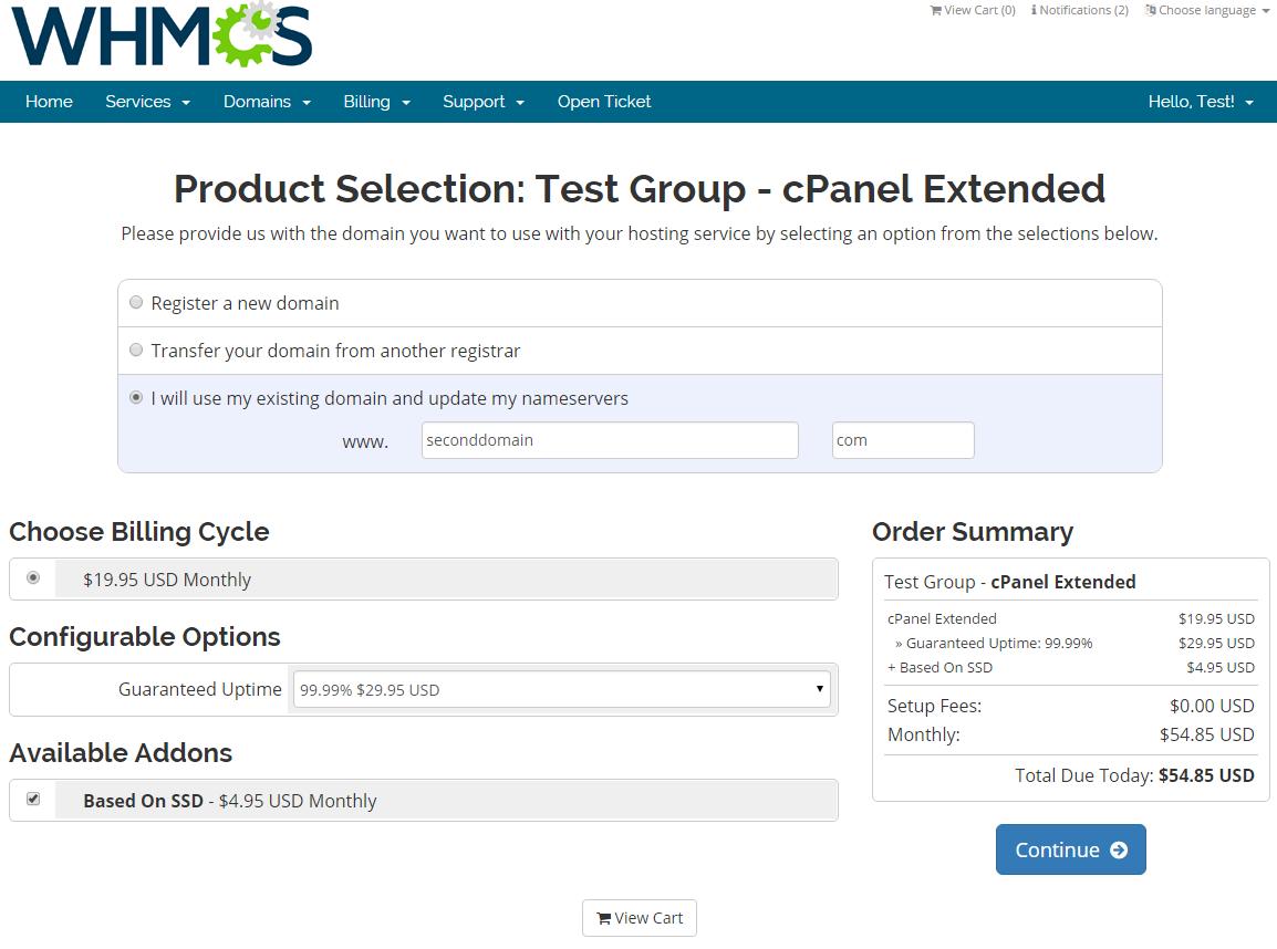 Server Allocator For WHMCS: Screen 5