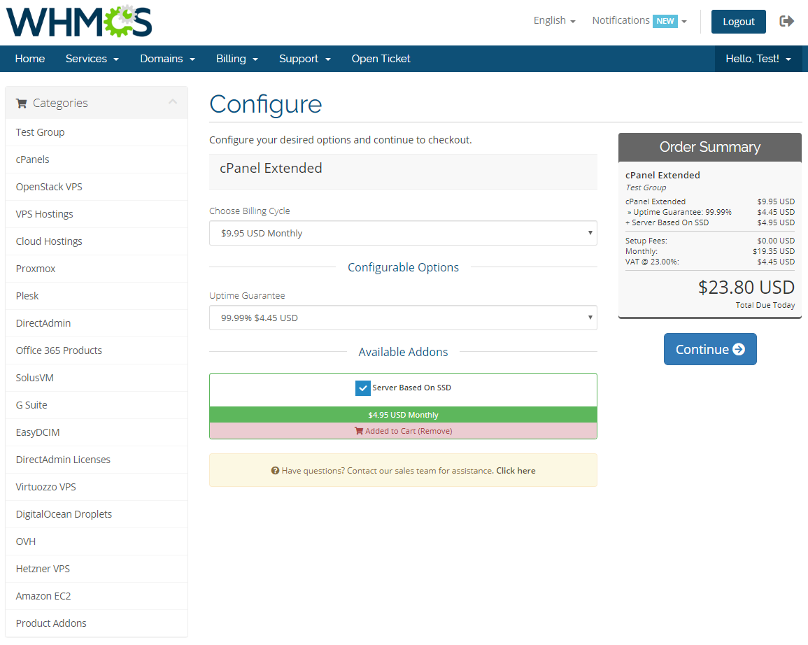 Server Allocator For WHMCS: Module Screenshot 5