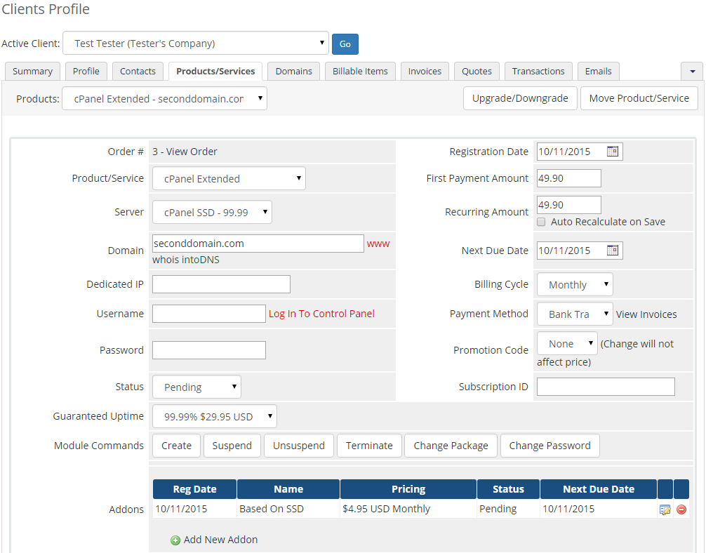 Server Allocator For WHMCS: Module Screenshot 6