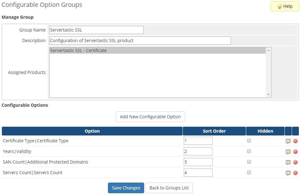 Servertastic SSL For WHMCS: Screen 6