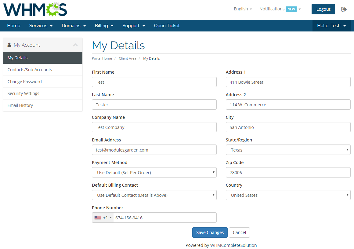Social Media Login For WHMCS: Screen 6