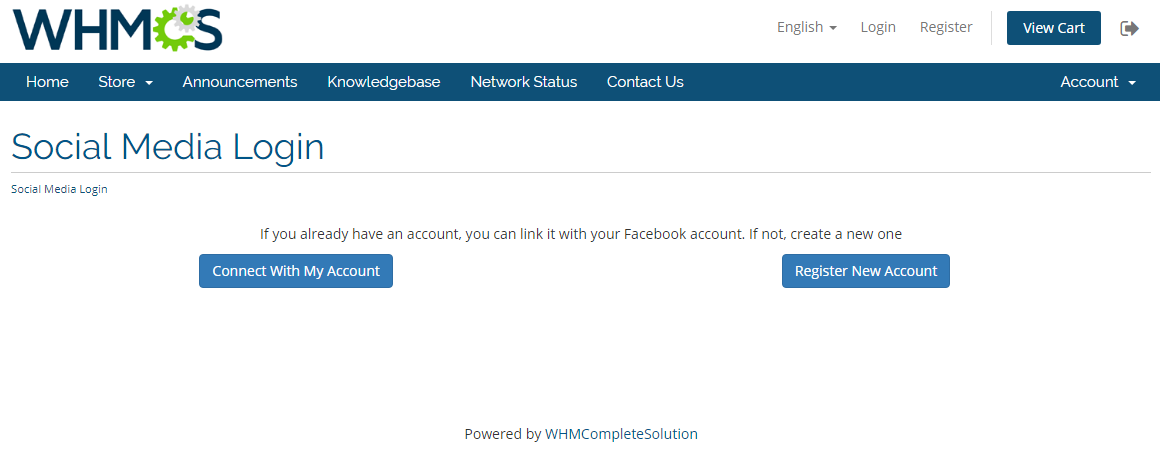 Social Media Login For WHMCS: Screen 5