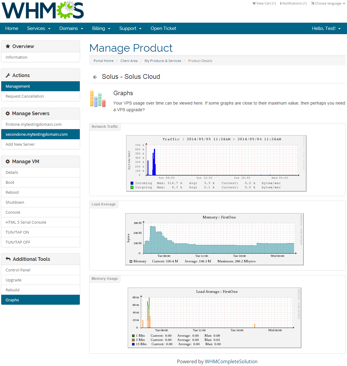 SolusVM Extended Cloud For WHMCS: Screen 4