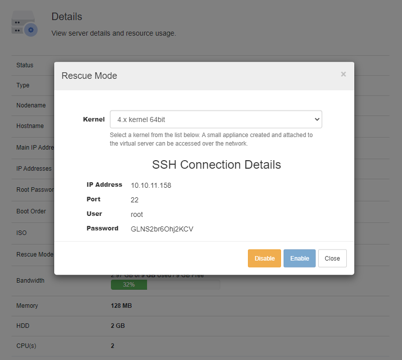 SolusVM Extended VPS For WHMCS: Module Screenshot 3