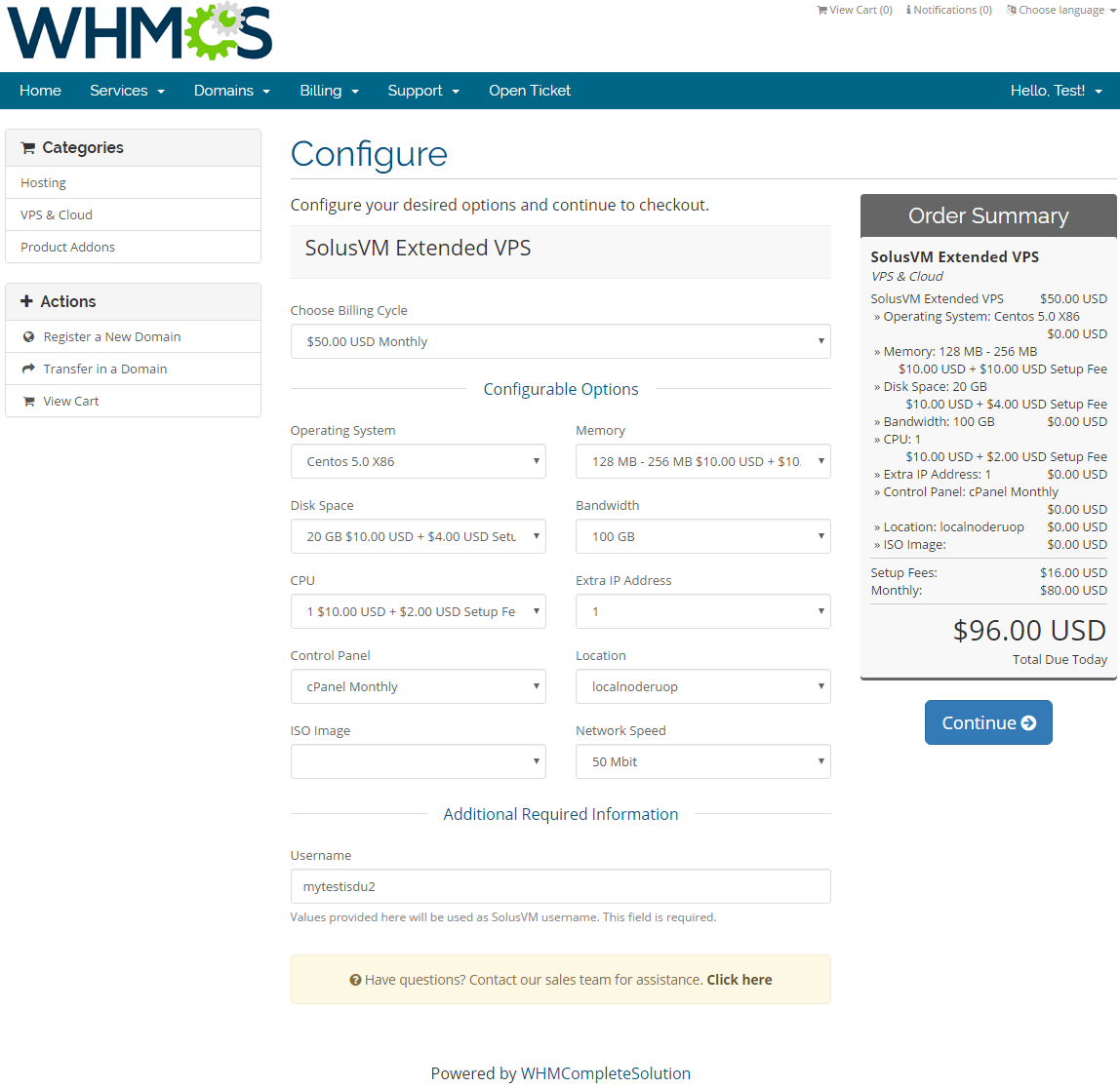 SolusVM Extended VPS For WHMCS: Screen 6